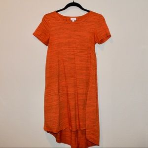 LuLaRoe Orange Carly Dress